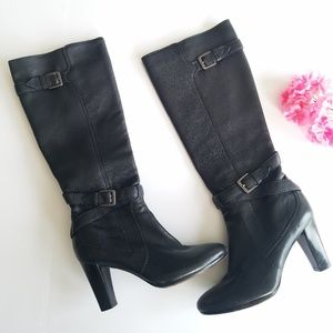 Cole Haan   Nike Air Black Leather Heeled Boots